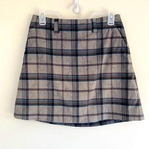 Nike Golf dri-fit Scroll Plaid gray skirt/skort